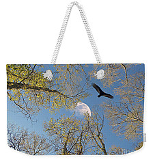 Weekender Tote Bag featuring the photograph Moon Trees by Savannah Gibbs