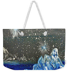 Moon With A Blue Dress Weekender Tote Bag