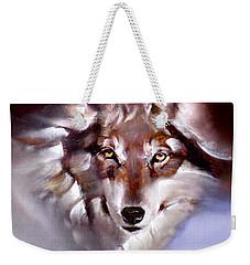 Moon Wolf Weekender Tote Bag