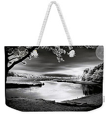 Weekender Tote Bag featuring the photograph Moona Lagoona by Robert McCubbin