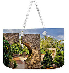 Weekender Tote Bag featuring the photograph Moongate Garden by Jean Goodwin Brooks