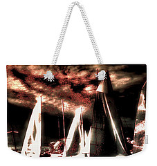 Weekender Tote Bag featuring the tapestry - textile Moonlight Cruise by Robert McCubbin