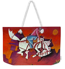 Moonlight Ride Weekender Tote Bag
