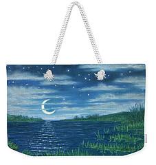 Moonlit Lagoon Weekender Tote Bag