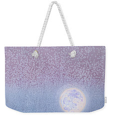 Weekender Tote Bag featuring the painting Moonrise by Margaret Bobb