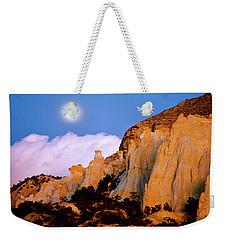 Moonrise Over The Kaiparowits Plateau Utah Weekender Tote Bag by Ed  Riche