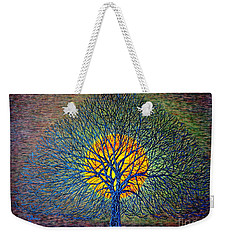 Weekender Tote Bag featuring the painting Moonshine by Viktor Lazarev