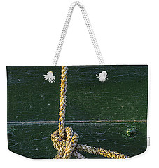 Weekender Tote Bag featuring the photograph Mooring Hitch by Marty Saccone