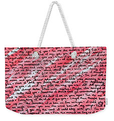 More Than Words Weekender Tote Bag by Jean Haynes