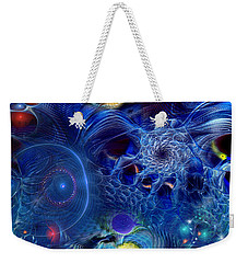 Weekender Tote Bag featuring the digital art More Things In Heaven And Earth by Casey Kotas