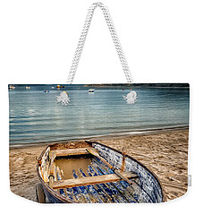 Weekender Tote Bag featuring the photograph Morfa Nefyn Boat by Adrian Evans