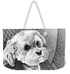 Morkie Weekender Tote Bag by Dustin Miller