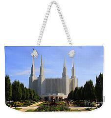 Mormon Temple Dc Weekender Tote Bag by Patti Whitten