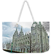 Mormon Temple In Early Spring Weekender Tote Bag