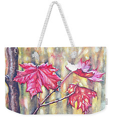 Morning After Autumn Rain Weekender Tote Bag by Shana Rowe Jackson