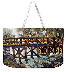 Morning At The Old North Bridge Weekender Tote Bag by Rita Brown