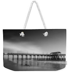 Weekender Tote Bag featuring the photograph Morning At Tybee Island Pier by Frank Bright
