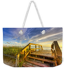 Morning Beach Walk Weekender Tote Bag