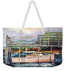 Morning Cape Porpoise Weekender Tote Bag