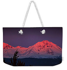 Morning Dawn On Two Of Three Sisters Mountain Tops In Oregon Weekender Tote Bag