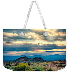 Morning Desert Glow Weekender Tote Bag