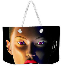 Weekender Tote Bag featuring the digital art Morning Dew by Anthony Mwangi