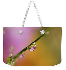Weekender Tote Bag featuring the photograph Morning Dew by Arthur Fix