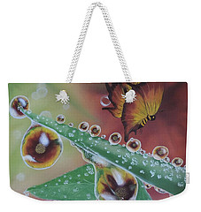 Morning Dew Weekender Tote Bag by Dianna Lewis