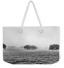 Weekender Tote Bag featuring the photograph Morning Fog by Howard Salmon