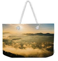 Morning Fog In The Saxon Switzerland Weekender Tote Bag