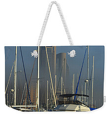 Morning Fog Ll Weekender Tote Bag by Leticia Latocki