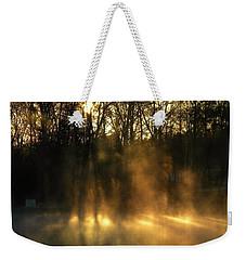 Morning Fog Rising Weekender Tote Bag