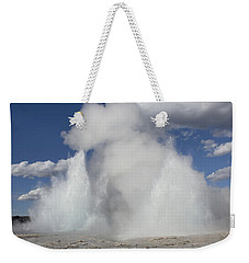 Morning-fountain Dual Eruption Weekender Tote Bag