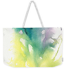 Weekender Tote Bag featuring the painting Morning Glory Abstract by Frank Bright