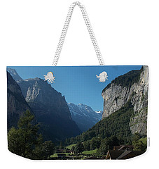 Morning In Lauterbrunnen Weekender Tote Bag