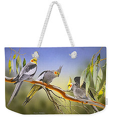 Morning Light - Cockatiels Weekender Tote Bag