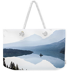 Weekender Tote Bag featuring the photograph Morning Mist by Aaron Aldrich
