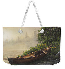Weekender Tote Bag featuring the painting Morning Mist by Kim Lockman