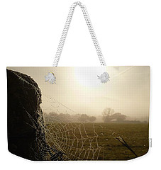 Weekender Tote Bag featuring the photograph Morning Mist by Vicki Spindler