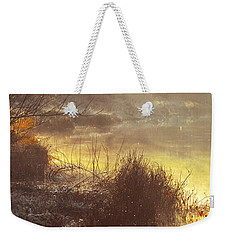 Weekender Tote Bag featuring the photograph Morning Misty Rays by Julie Palencia
