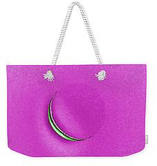 Morning Moon Pink Weekender Tote Bag