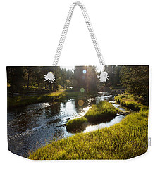 Morning On The Firehole Weekender Tote Bag