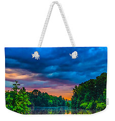 Morning On The Lake Weekender Tote Bag