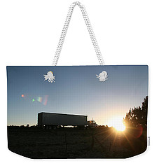Weekender Tote Bag featuring the photograph Morning Run by David S Reynolds