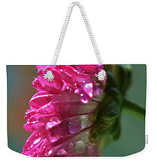 Weekender Tote Bag featuring the photograph Morning Shower by Michelle Meenawong