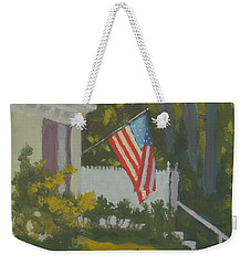 Morning Sun On Old Glory Weekender Tote Bag