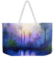 Weekender Tote Bag featuring the painting Morning Symphony by Alison Caltrider