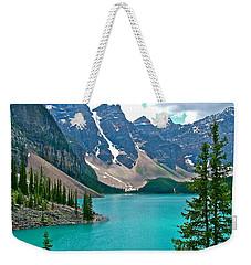 Morraine Lake In Banff Np-alberta Weekender Tote Bag