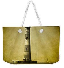 Morris Island Light Bw Vintage Weekender Tote Bag