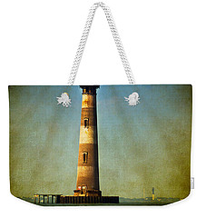 Morris Island Light Color Vintage Weekender Tote Bag